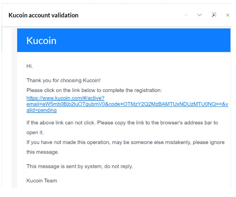 account kucoin